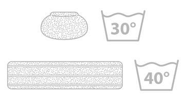 Set aus 2 Reinigungstücher + 3 Frotteeüberbezüge Vaporetto PAEU0324
