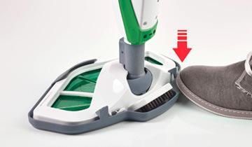 Dampfbesen Vaporetto SV400 Hygiene - Detail Anbringung der Tuchs